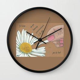 Je t'aime...un peu...beaucoup Wall Clock