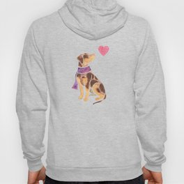 Watercolour Catahoula Leopard Dog Hoody