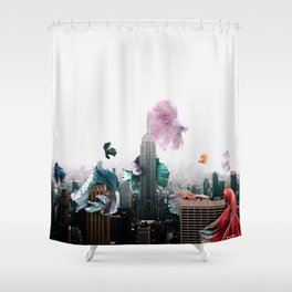 patch with poems. Shower Curtain