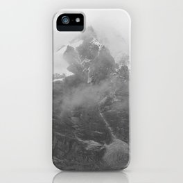 Rocky Mountain Fog B&W iPhone Case