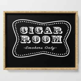 Cigar Room Smokers Only Serving Tray
