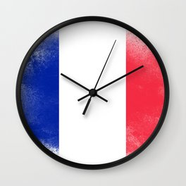 France flag isolated Wall Clock
