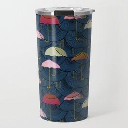 Rainclouds and Umbrellas Travel Mug