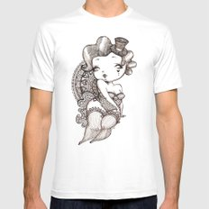 Chubby Burlesque MEDIUM White Mens Fitted Tee