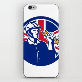 British Power Lineman Union Jack Flag Icon iPhone Skin