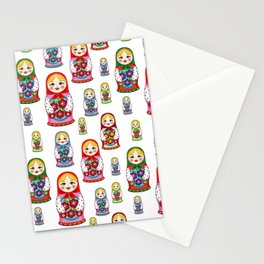 Russian nesting dolls pattern Stationery Cards