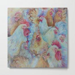 Roosters Metal Print