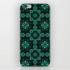 Retro . Black turquoise ornament . iPhone & iPod Skin