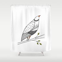 aelwen Shower Curtains featuring neville by sylvie demers