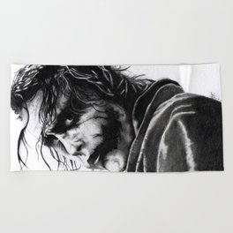 The joker - Heath Ledger Beach Towel