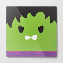 Hulk Block Metal Print