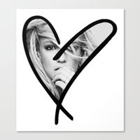 britney Canvas Prints featuring Britney Heart by eriicms