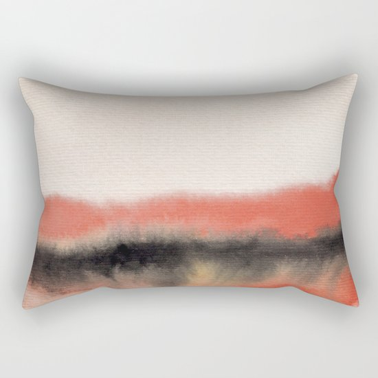 Watercolor abstract landscape 07 Rectangular Pillow