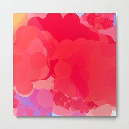 red bubbles moving in Metal Print