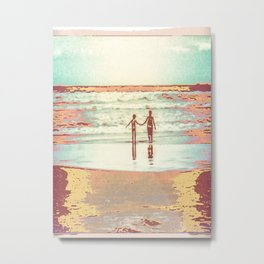 Brothers on the beach Metal Print