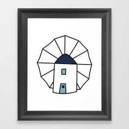Island windmill Framed Art Print