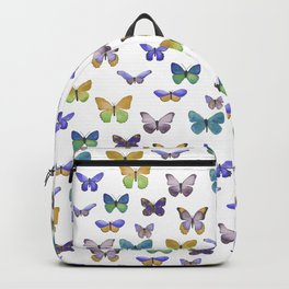Butterfly Pattern in blue, green & yellow Backpack