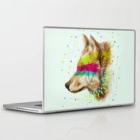 selena gomez Laptop & iPad Skins featuring Cherokee Wolf II by dogooder