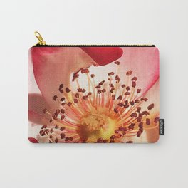 Pomagranate Red Spring Blossom Carry-All Pouch