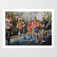 Runners. Art Print