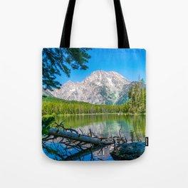 Grand Teton Lake Hike Wyoming Print Tote Bag