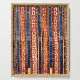 Shahsavan Moghan Caucasian Striped Rug Print Serving Tray