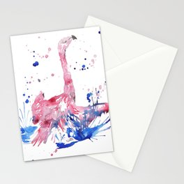 Abstract Flamingo Stationery Cards