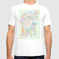 native & fluorescent pastels White MEDIUM Mens Fitted Tee