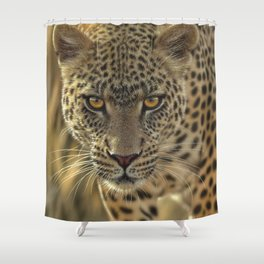 Leopard - On the Prowl Shower Curtain