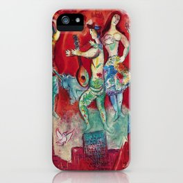 Carmen (Over Paris) by Marc Chagall iPhone Case