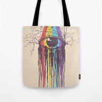 future Tote Bags featuring Look into the Future by Norman Duenas