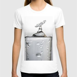 Cold shot glass drop T-shirt