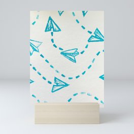 Paper Plane Print Mini Art Print