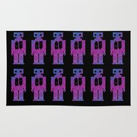 robots Area & Throw Rugs featuring Robots by Scar Design