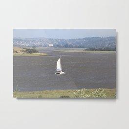 *Sailing into Launceston Tasmania* Metal Print