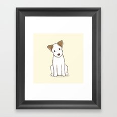 Custom Art Abby the JRT Illustration Framed Art Print