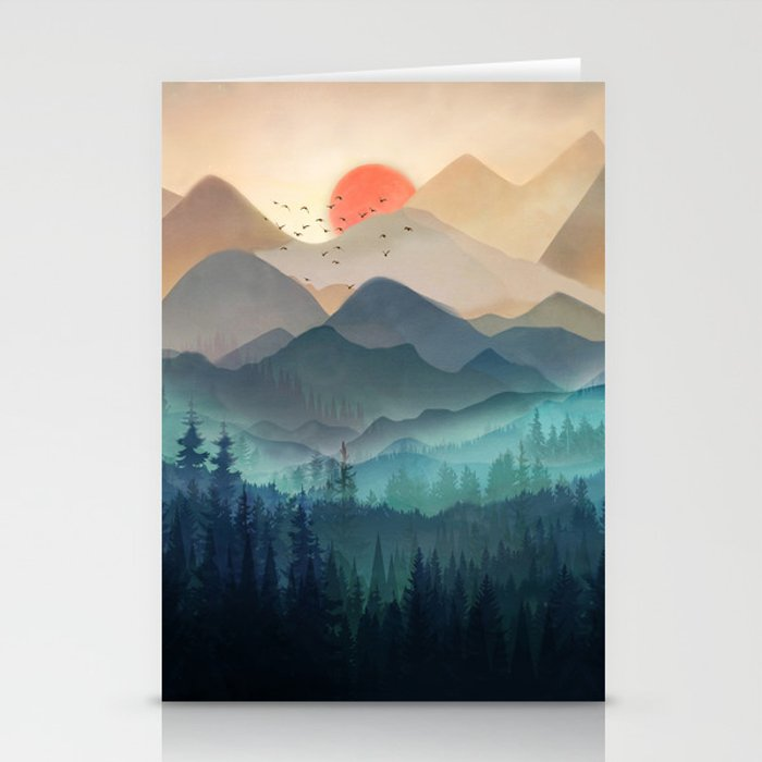 Wilderness Becomes Alive at Night Stationery Cards