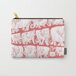 Pachyderm Parade Red Carry-All Pouch