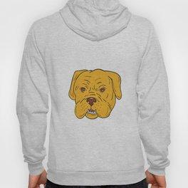 Bordeaux Dog Head Cartoon Hoody