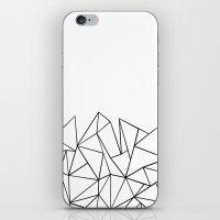 Ab Peaks White iPhone & iPod Skin
