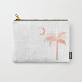 Palmetto Tree Blush Carry-All Pouch