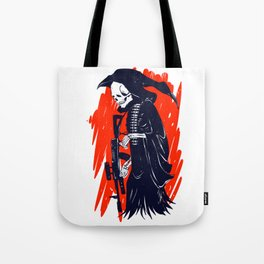 Military skeleton - grim soldier - gothic reaper Tote Bag