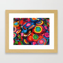 Rainbow colors crafts from Guatemala Framed Art Print