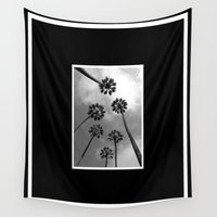 palm trees Wall Tapestries featuring Palm Trees by Derek Delacroix