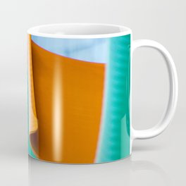 Blue Green and Orange Abstract Coffee Mug