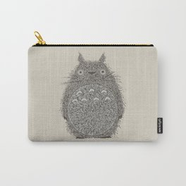 Cream Totoro Carry-All Pouch