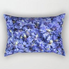 Bed of cornflowers Rectangular Pillow