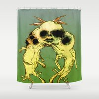 twins Shower Curtains featuring TWINS by ASHES