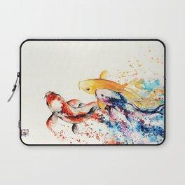 Underwater rainbow : the goldfishes Laptop Sleeve