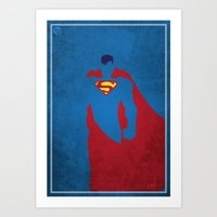 man of steel Art Prints featuring Man of Steel by Pancho Blanco